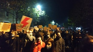 Strajk Kobiet: Na Śląsku i w Zagłębiu także blokady i protesty ws. wyroku Trybunału Konstytucyjnego