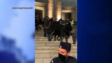 Policja o protestach ws. aborcji w Katowicach: Reagujemy tylko na agresję z tłumu