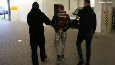 Napad z bronią ręku w Bielsko-Białej. 33-latek aresztowany (fot.Śląska Policja)