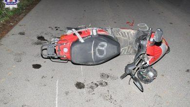 Wywróciłsię na motorowerze. Zmarłna miejscu (fot.Policja Lubelska)