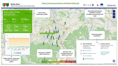 W Bielsku jakość powietrza można sprawdzić przez internet. Fot. UM Bielsko-Biała