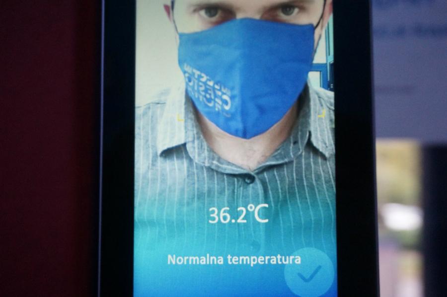 Urząd w Częstochowie zamontował terminale do pomiaru temperatury [ZDJĘCIA]. Fot. UM Częstochowa