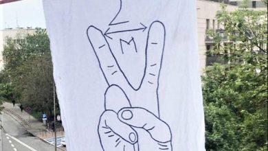 W Bielsku-Białej wisi dziwna flaga. Co oznacza?! Fot. UM Bielsko-Biała