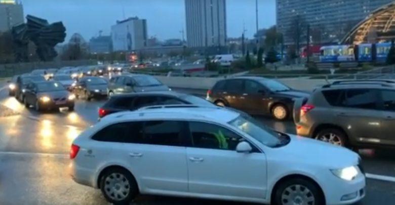 Kolejna blokada ronda im. gen. Ziętka w Katowicach. Choć tym razem protestujących było znacznie mniej niż ostatnio
