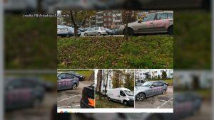 I o uszkodzeniu mienia jest też mowa w Sosnowcu. Tu nieznana osoba lub osoby zniszczyły zaparkowane samochody