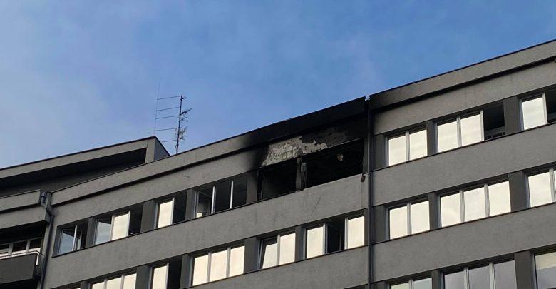 Pożar szpitala w Katowicach! W sobotę, 14 listopada pożar wybuchł w szpitalu przy ulicy Medyków w Katowicach. Ewakuowano pacjentów i personel (fot.Bartosz Bednarczuk)