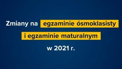 Zmiany na maturach i egzaminach ośmioklasisty w 2021 roku. Jakie? (fot.MEN)