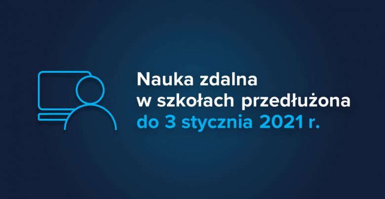 Nauka zdalna w szkołach przedłużona do 3 stycznia 2021 r. Są wyjątki! (fot.MEN)