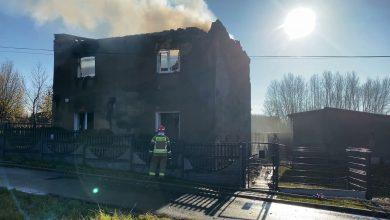 Mysłowice: Pożar mógł zmieść dom z powierzchni! W środku kilka butli gazowych!