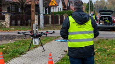 Drony w Bytomiu znowu pilnują kominów. Straż Miejska sprawdza kto i czym pali w piecu (fot.UM Bytom)