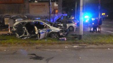 Śląskie: Staranował radiowóz i uciekł. Policjanci trafili do szpitala (fot.Śląska Policja)