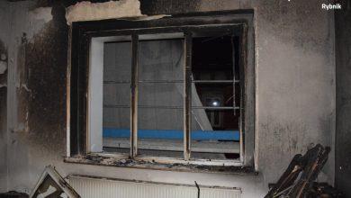 Pożar mieszkania w Rybniku. Policja zatrzymała 37-latka (fot.Śląska Policja)