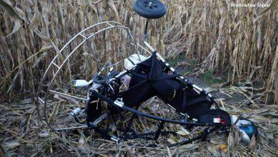 Śląskie: Spadł na ziemię z dużej wysokości. Paralotniarz był pijany (fot. Śląska Policja)