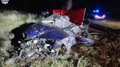 Dwóch 19-latków zginęło w zmiażdżonym Audi! Koszmarny wypadek w Gościeradowie (fot.policja.pl)