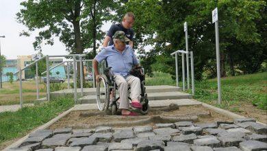 W Rybniku jest tor przeszkód dla niepełnosprawnych. Fot. UM Rybnik