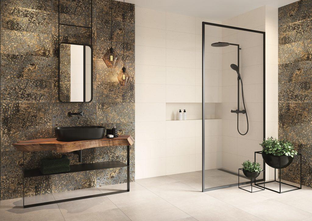 Metamorfozę łazienki możemy zacząć od wymiany drobnych elementów: ramy lustra, ciekawych form doniczek, czy dozowników. Fot. Vijo