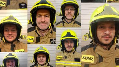 W OSP Janów w Mysłowicach nie ma strażaka bez wąsów. Dlaczego? Fot. OSP Janów
