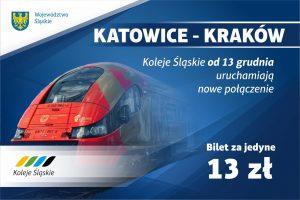13 grudnia rusza połączenie Katowice-Kraków. Kolejami Śląskimi pojedziemy za 13 złotych (fot.Koleje Śląskie)