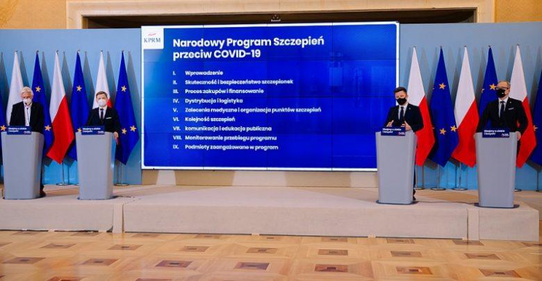 Dziś rząd ogłosił projekt Narodowego Programu Szczepień Przeciw COVID-19. Szczepienia mają być darmowe i dobrowolne (fot.premier.gov.pl)