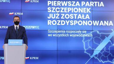 15 stycznia 2021 roku ruszajązapisy chętnych na szczepienie przeciwko Covid-19 (fot.premier.gov.pl)