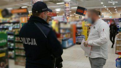 Śląskie: Klienci stosują sięobowiązujących zasad bezpieczeństwa? Policja i pracownicy sanepidu sprawdzają sklepy (fot.Śląska Policja)