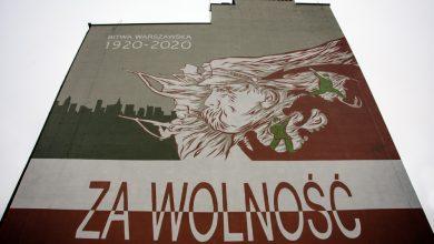 Za wolność! Historyczny mural z okazji 100-lecia zwycięskiej bitwy pod Warszawą powstał w Bytomiu (fot.UM Bytom)