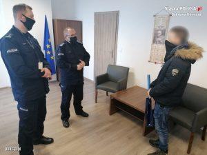 Uczeń klasy mundurowej jednego z dąbrowskich liceów pomógł stróżom prawa w zatrzymaniu podpalacza (fot.policja)