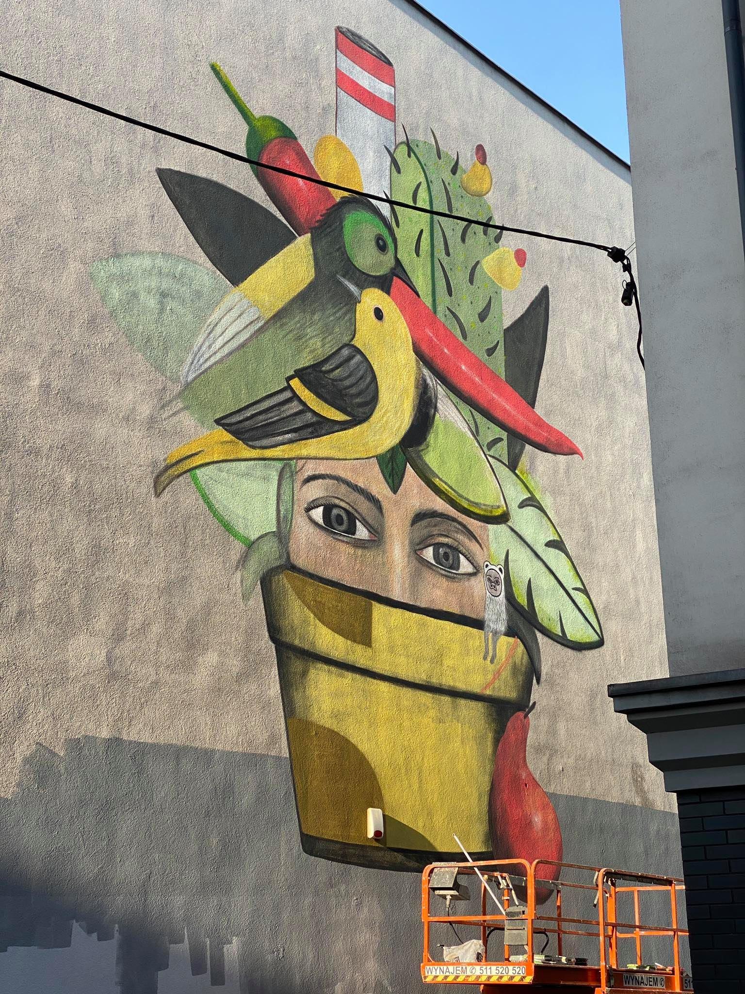 Katowice mają nowy mural. Nawiązuje do Światowego Forum Miejskiego. Fot. UM Katowice