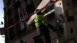 - Dzisiaj około 20 budynków zostało odśnieżonych, odsoplonych , także działamy pełną parą -mówi Adam Lipski, AL-SPRZĘT