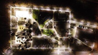 Park Podlesie, który znajduje się u zbiegu ul. Tysiąclecia i Podlesie, powstał w latach 70-tych XX wieku. Miał być miejscem rekreacji i wypoczynku dla dąbrowian. [fot. Um Dąbrowa Górnicza / Dariusz Nowak]