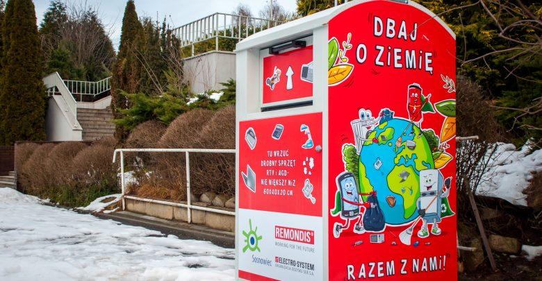 Dziesiątki kontenerów na elektrośmieci w Sosnowcu [GDZIE ODDAĆ ELEKTROŚMIECI]. Fot. UM Sosnowiec