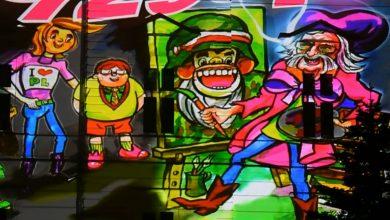 Niesamowity wideo-mural w Bielsku-Białej! To hołd dla Papcia Chmiela!
