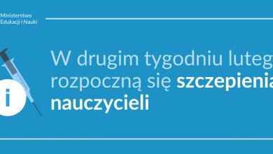 8 lutego początek szczepień przeciwko COVID-19 nauczycieli. Ilu się zaszczepi? (fot.MEN)