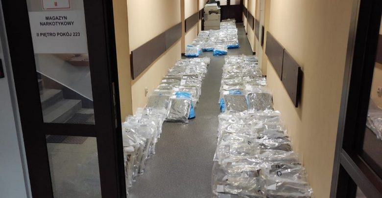 250 kilogramów marihuany ukryte w... ogórkach. Fot. Policja Wielkopolska
