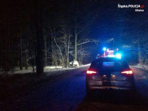 Pierwszy z tragicznych wypadków miał miejsce 29 stycznia około godziny 15.00 na odcinku drogi łączącym Proboszczowice i Kotulin, na terenie gminy Toszek (fot.KMP Gliwice)