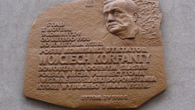 Tablica upamiętniająca Wojciecha Korfantego na budynku przy ul. Gliwickiej w Bytomiu. [fot. UM Bytom]