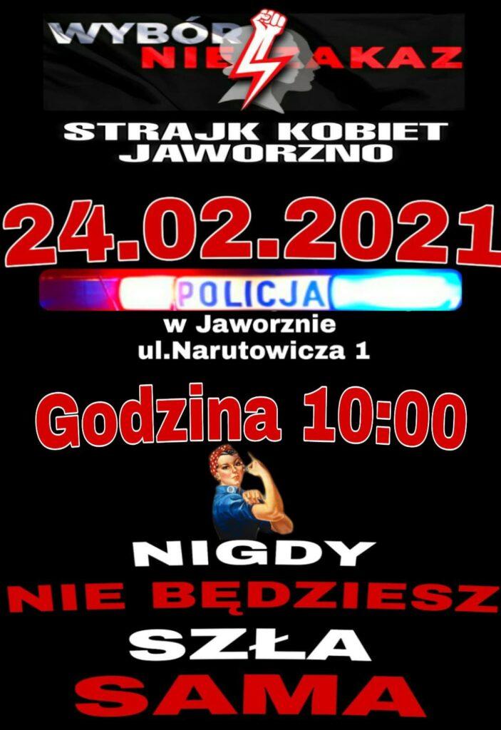 Będą protestować pod Komendą Miejską Policji w Jaworznie