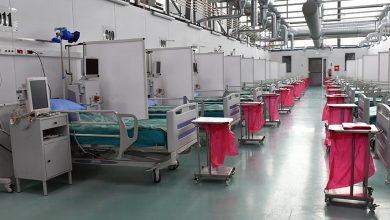 Tymczasowy szpital wojskowy w bazie lotniczej na warszawskim Okęciu gotowy do przyjęcia pacjentów (fot.MON)