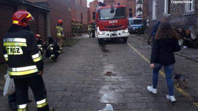 Pożar kamienicy w Częstochowie. To było podpalenie (fot.KMP Częstochowa)