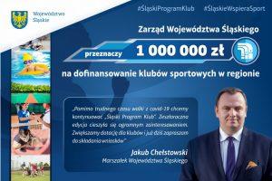 Milion złotych trafi do klubów sportowych z regionu w ramach Śląskiego Programu KLUB 2021 (fot.slaskie.pl)