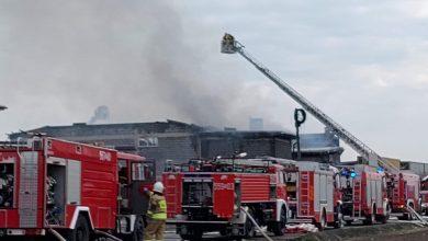 OGROMNY pożar w Studzienicach [ZDJĘCIA]. Fot: Ratownictwo Powiat Pszczyński