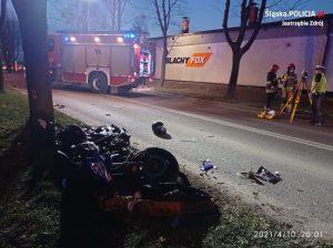 Tragiczny wypadek drogowy w Jastrzębiu-Zdroju. Kierowca Jeepa zderzył się z motorowerzystą. Odjechał z miejsca zdarzenia i na policję zgłosił się dzień później (fot.policja)