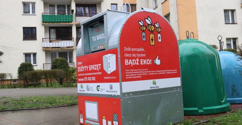 W Bielsku stanęło 20 pojemników na elektroodpady. Fot. UM Bielsko-Biała