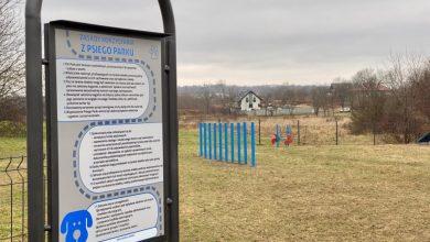 Przy ul. Hlonda został otwarty wybieg dla psów wyposażony został w ogrodzenie, regulowane drążki do przeskoków i tunel. [fot. UM Bytom]
