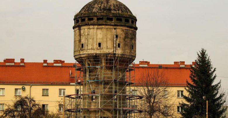 Wieża ciśnień w Gliwicach przechodzi remont. Fot. UM Gliwice