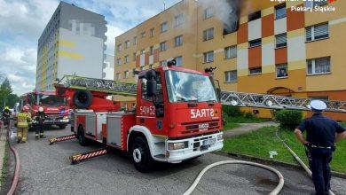 Tragiczny pożar mieszkania w Piekarach Śląskich. Jedna osoba nie żyje (fot.Śląska Policja)