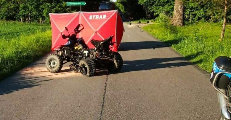 Zderzenie osobówki z quadem. Kierowca quada nie żyje (fot.Policja Lubelska)
