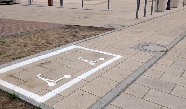 Nie tylko dla samochodów. Częstochowa buduje parkingi dla hulajnóg. Fot. UM Częstochowa