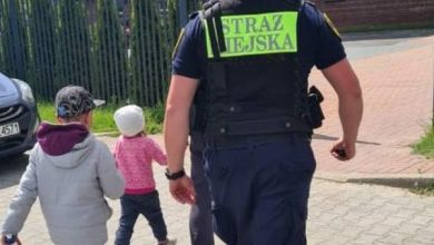 Straż miejska z Częstochowy odnalazła poszukiwanego mężczyznę i dwójkę dzieci. Fot. UM Częstochowa
