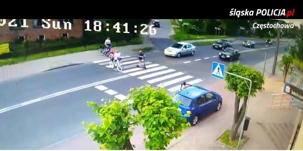 Chwile grozy w Rędzinach! Pirat drogowy, który o mało nie rozjechał 4 osób, usłyszał zarzuty [WIDEO]